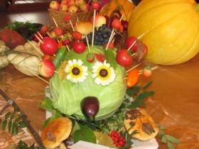 """Праздник цветов и овощей """"Осень, рыжая девчонка!""""в с.Алегазово."""